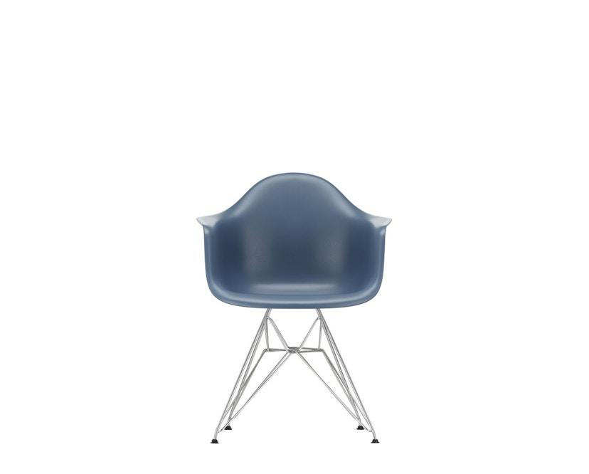 Vitra - DAR mit Sitzpolster - sea blue - Bezug dunkelgrau - Sitzhöhe 46 cm - 3