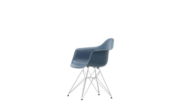 Vitra - DAR mit Sitzpolster - sea blue - Bezug dunkelgrau - Sitzhöhe 46 cm - 6