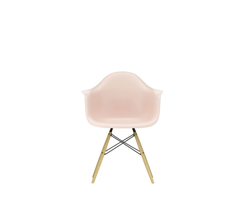 Vitra - DAW mit Sitzpolster - Gestell Esche - pale rose - Sitzhöhe 46 cm - 1