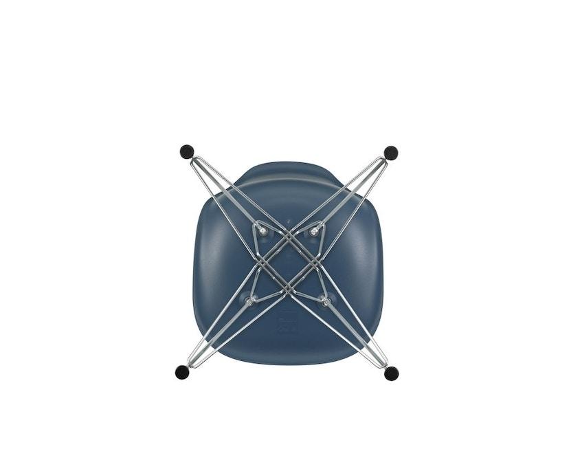 Vitra - DSR mit Sitzpolster - 83 sea blue - Hopsak 96 rot/cognac - Filzgleiter Hartboden - Sitzhöhe 46 cm - 3