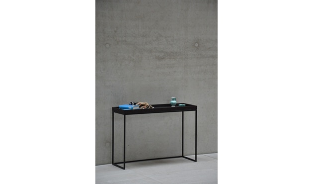 Jan Kurtz - Pizzo Konsolentisch - Esche wenge gebeizt/schwarz - 100 x 70 x 34 cm - 5