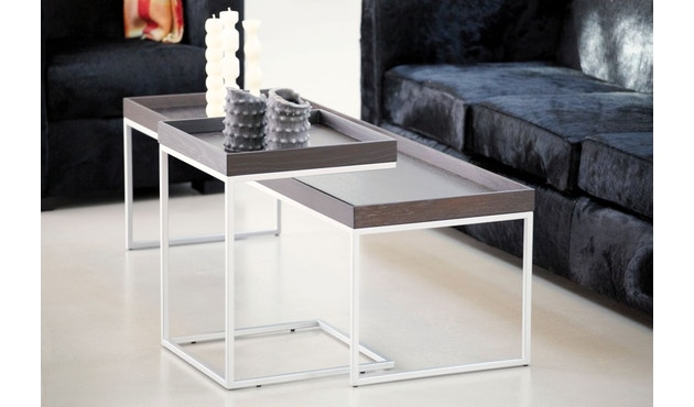 Jan Kurtz - Table d'appoint Pizzo  - 40 x 52 x 40 cm - frêne blanc - blanc - 2