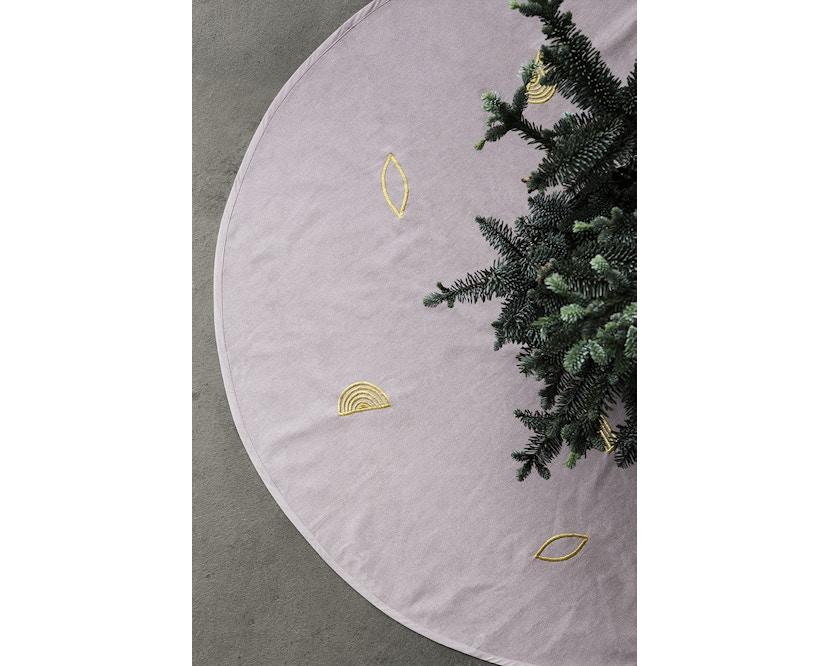 ferm LIVING - Weihnachtsbaum Teppich - rosa - 3