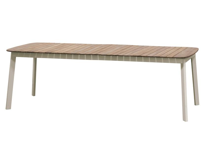 Emu - Shine Tisch - Tischplatte Teak - L - Gestell taupe - 1