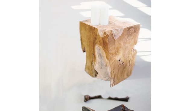 Jan Kurtz - Block Hocker eckig - tief - Teak - 2