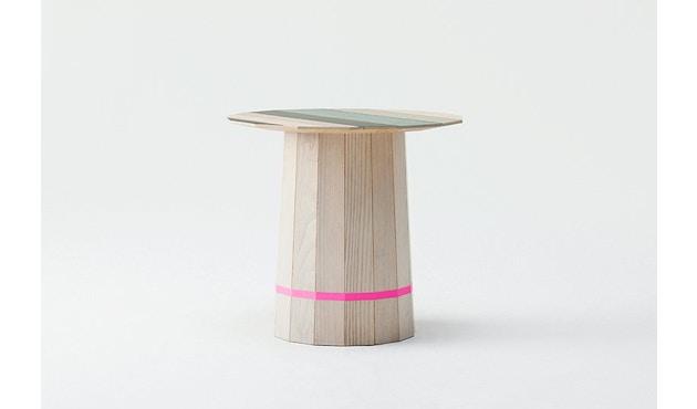 Karimoku New Standard - Colour Wood Tisch Kastanie - bunte Streifen - 3