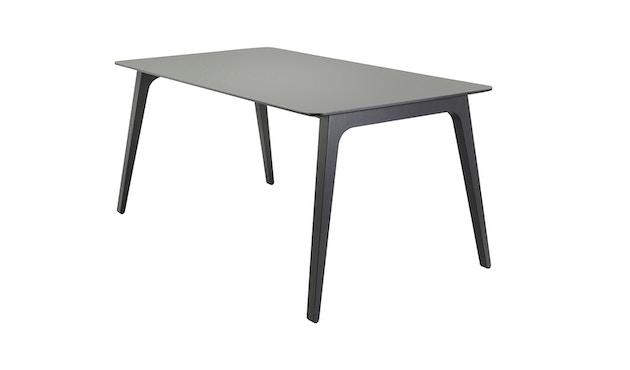 Houe - Gate Tisch - Tischplatte linoleum ash grey 66 - 168x95 cm - Gestell black ash - 1