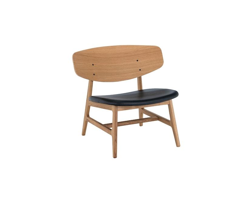 Houe - Siko Lounge Stuhl geölt mit Lederpolster schwarz - 1