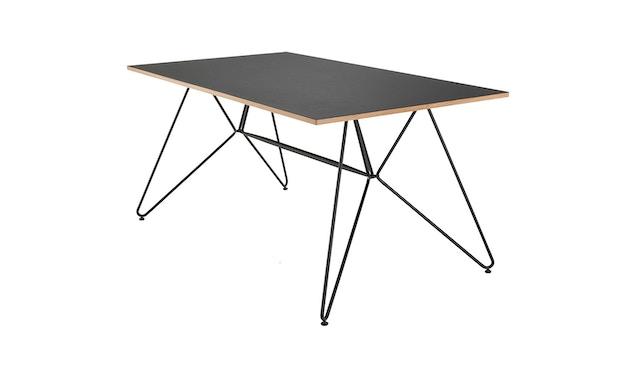 Houe - Sketch Tisch - black linoleum/oiled oak edge - 168 x 95 cm - 1
