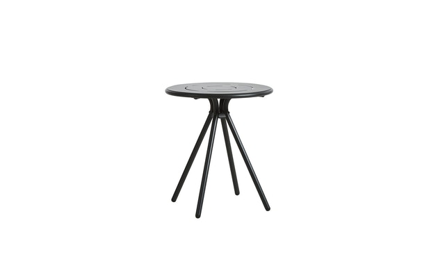 Woud - Ray Round Café Tisch - Charcoal black - 1