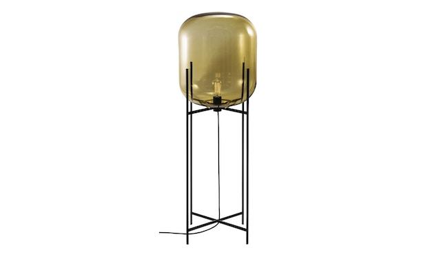 Pulpo - Oda Big Stehleuchte - Glas amber, Untergestell schwarz - 1