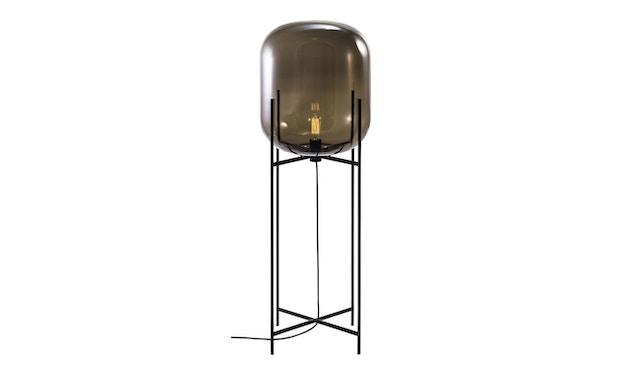 Pulpo - Oda Big Stehleuchte - Glas grau, Untergestell schwarz - 1