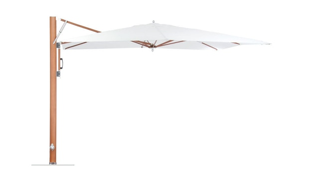 Tuuci - Vineyard dura-teak single cantilever Sonnenschirm  - natural - 3,0 m quadratisch - 1