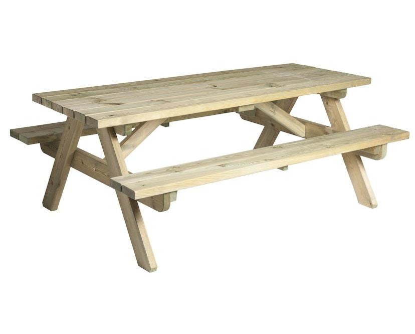Alexander Rose - Pine Woburn Picknicktisch hochbelastbar - 1