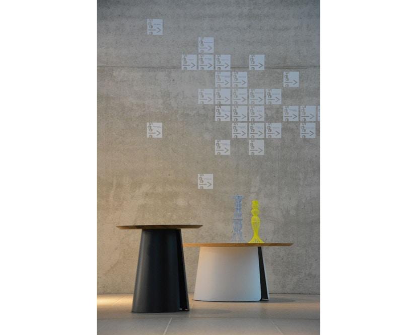 Jan Kurtz - Feel Wood Beistelltisch - weiß/Eiche - Ø 50 cm - 4