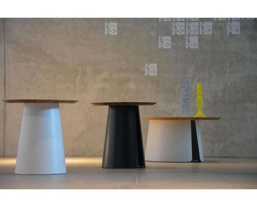 Jan Kurtz - Feel Wood Beistelltisch - weiß/Eiche - Ø 50 cm - 5