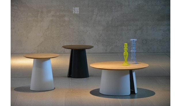 Jan Kurtz - Feel Wood Beistelltisch - weiß/Eiche - Ø 50 cm - 6