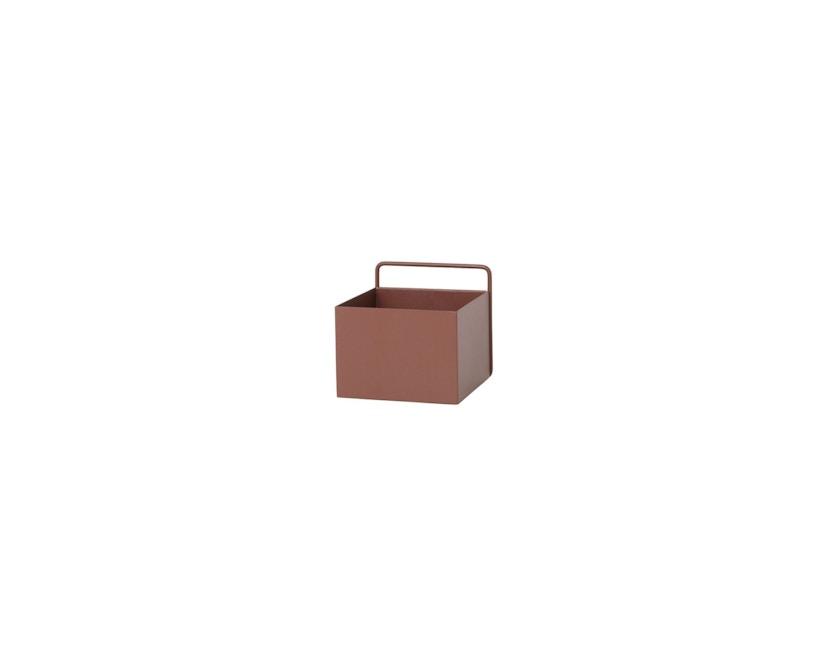 ferm LIVING - Wall Box - quadrat - rotbraun - 2