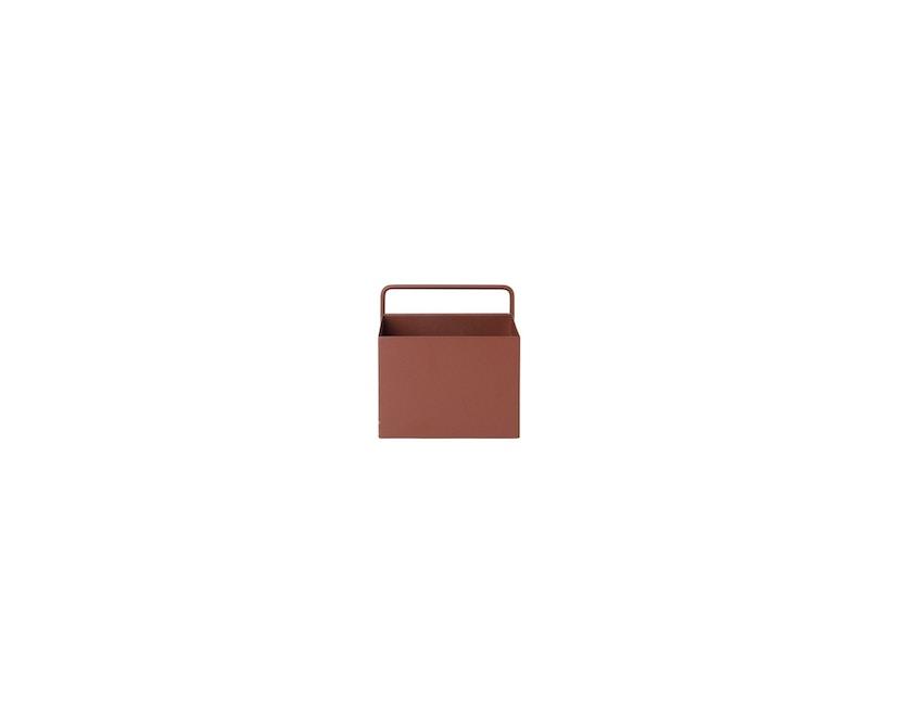 ferm LIVING - Wall Box - quadrat - rotbraun - 3