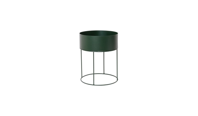ferm LIVING - Plant Box Zylinder - dunkelgrün - 1