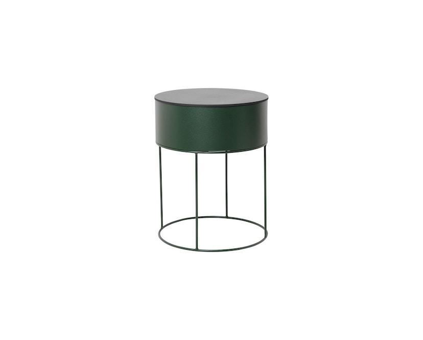 ferm LIVING - Plant Box Zylinder - dunkelgrün - 2