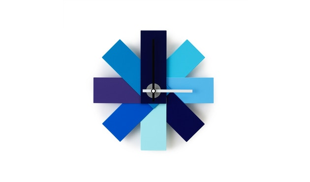 Normann Copenhagen - Watch Me wandklok - blauw - 1