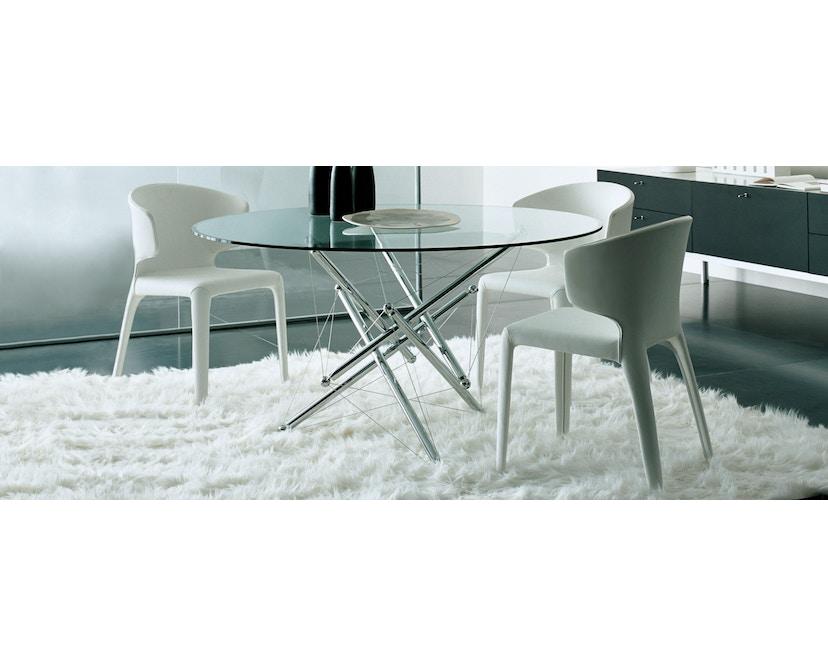 Cassina - 367 Hola Armlehnstuhl - Leder weiß - 3