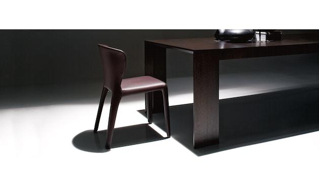 Cassina - 369 Hola Stuhl - Stoff schwarz/Leder schwarz - 3