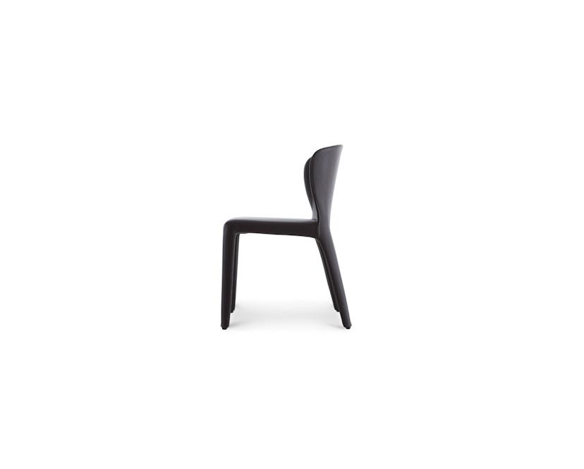 Cassina - 369 Hola Stuhl - Stoff schwarz/Leder schwarz - 7