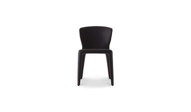 Cassina - 369 Hola Stuhl - Stoff schwarz/Leder schwarz - 1