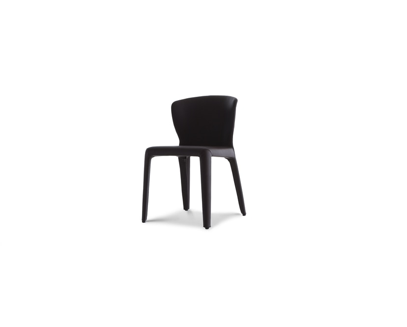 Cassina - 369 Hola Stuhl - Stoff schwarz/Leder schwarz - 6