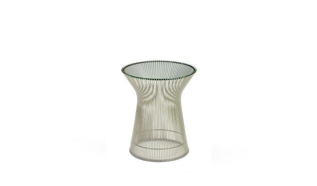 Knoll International - Platner Beistelltisch - 40 Ø -   Kristallglas - polierter Nickel - 0