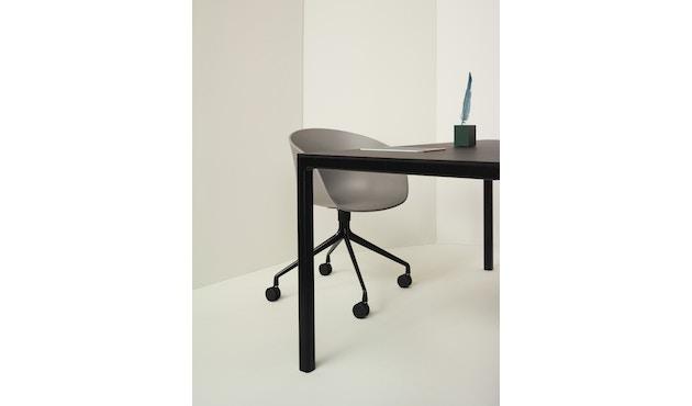 HAY - About a Chair AAC 21 - bezogene Sitzschale - Remix133 - Aluminium poliert - 8