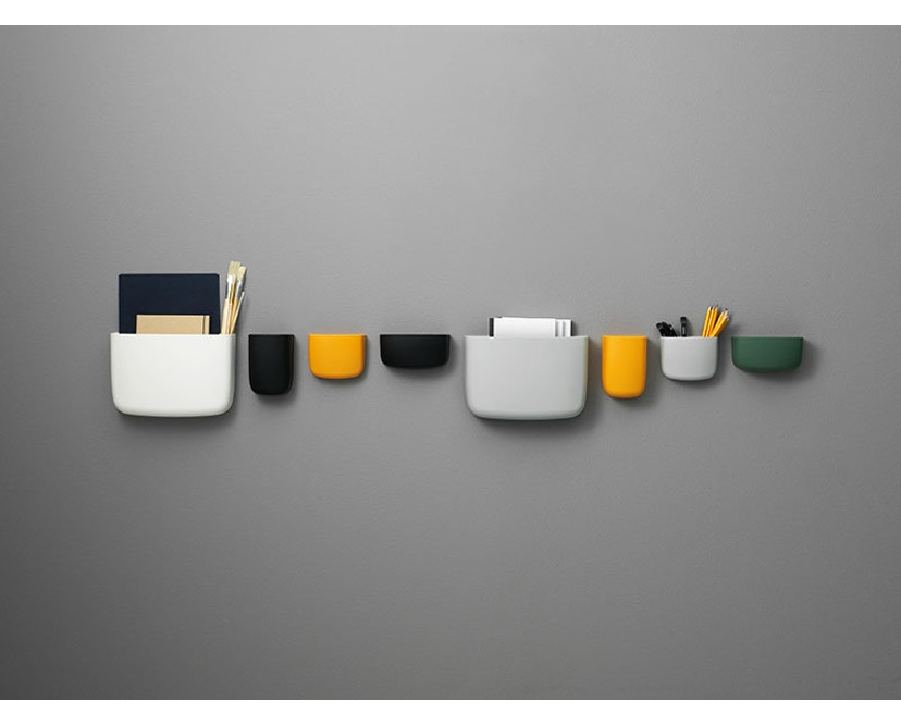 Normann Copenhagen - Pocket Wandaufbewahrung 2 - orange - 11