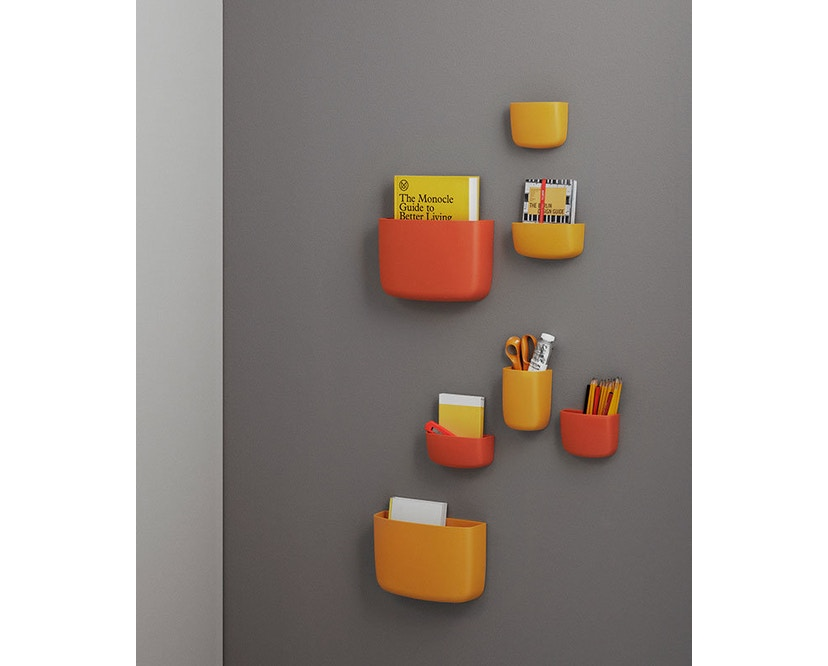 Normann Copenhagen - Pocket Wandaufbewahrung 2 - orange - 16