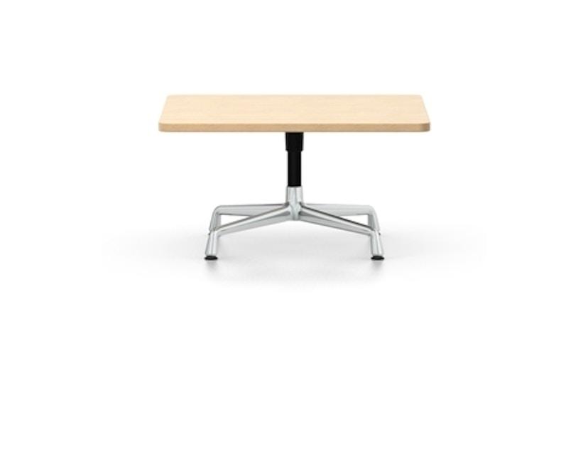 Vitra - Eames Side Table quadratisch 75x75cm, Höhe 40cm, Furnier Eiche hell,  Ausleger chrom, Standrohr pulverbeschichtet basic dark - Furnier Eiche hell - 1