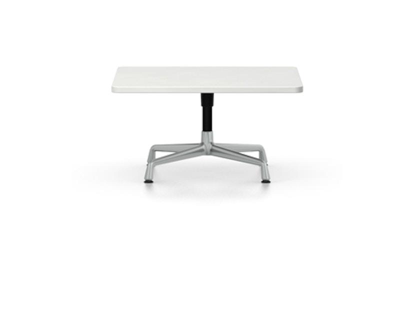 Vitra - Eames Side Table quadratisch 75x75cm, Höhe 40cm, Melamin weiß, Ausleger poliert, Standrohr pulverbeschichtet basic dark - Melamin weiß - 1
