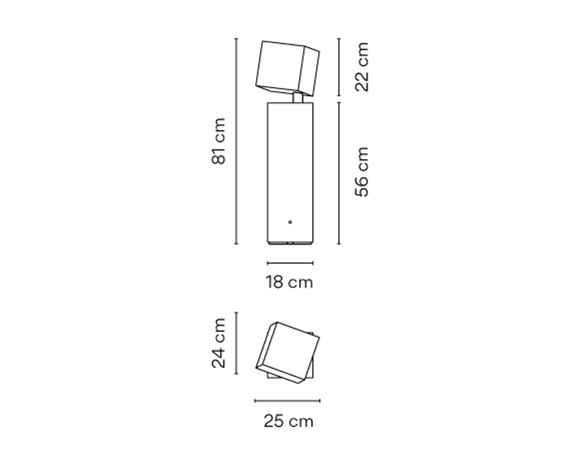 Vibia - Break Outdoor Stehleuchte - Groß - betongrau - 2