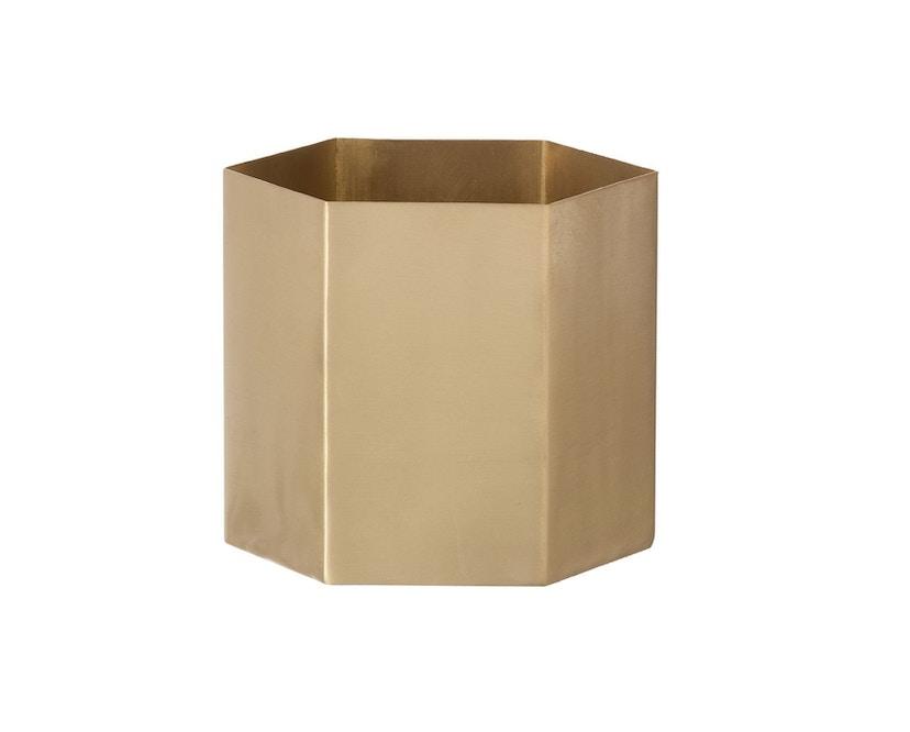 ferm LIVING - Hexagon Pot - Brass - S - 0