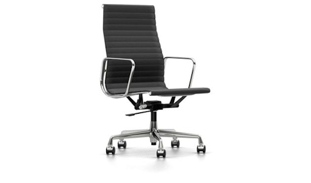 Vitra - Aluminium Sessel - EA 119, Gestell poliert, Rollen Teppich - Hopsak - 05 dunkelgrau - 1