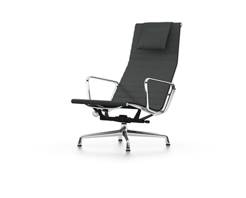 Vitra - Aluminium Chair - EA 124 - Hopsak - donkergrijs - Glijders voor harde bodems - gepolijst - 1