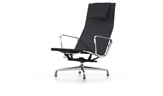 Vitra - Aluminium Sessel - EA 124, Gestell poliert, Filzgleiter Hartboden - Hopsak - 66 nero - 1