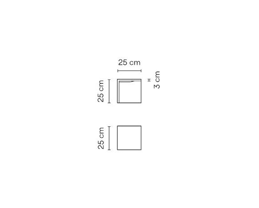Vibia - Empty Outdoorleuchte - 25 x 25 cm - grau - 2