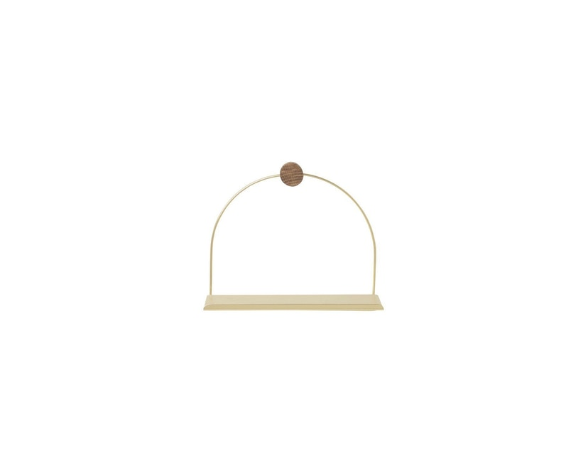 ferm LIVING - Badezimmerregal - messing - 1