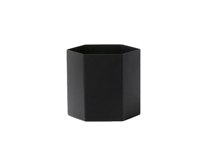 ferm LIVING - Hexagon Pot - Black - L - 2