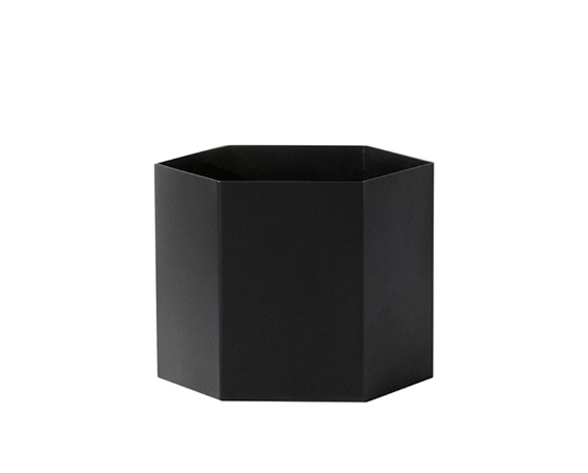 ferm LIVING - Hexagon Pot - Black - XL - 0