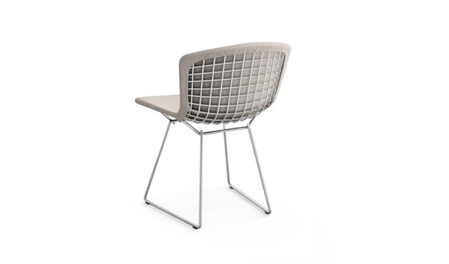 Knoll International - Bertoia Side Stuhl - sandgrau - Gestell Chrom glänzend -  gepolstert - 1