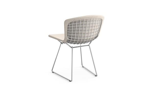 Knoll International - Bertoia Side Stuhl - ungefärbt - Gestell Chrom glänzend -  gepolstert - 1