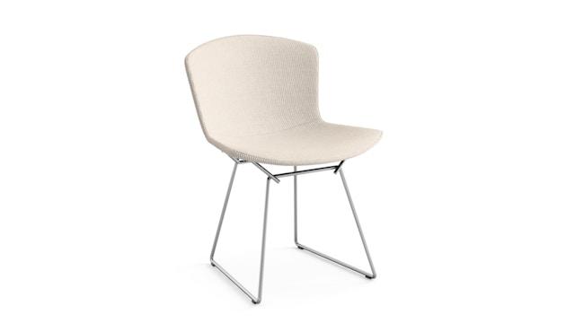 Knoll International - Bertoia Side Stuhl - ungefärbt - Gestell Chrom glänzend -  gepolstert - 0