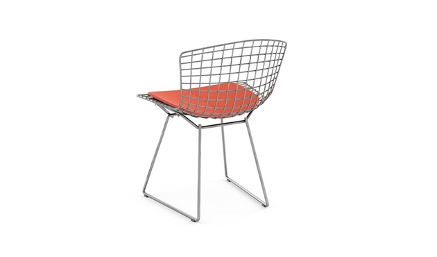 Knoll International - Bertoia Side Stuhl - Chrom glänzend - Vinyl orange - 1